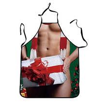 """Фартук с приколом """"Подарок"""" - размер 73*57см, полиэстер, ткань плотная"""