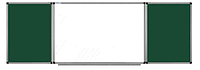 Доска комбинированная мел/маркер 100*400 см