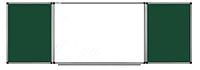 Доска комбинированная мел/маркер 120*300 см