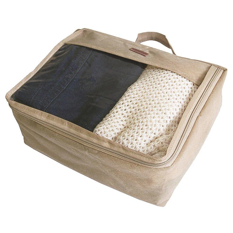 Средняя дорожная сумка для вещей ORGANIZE P002-beige бежевый