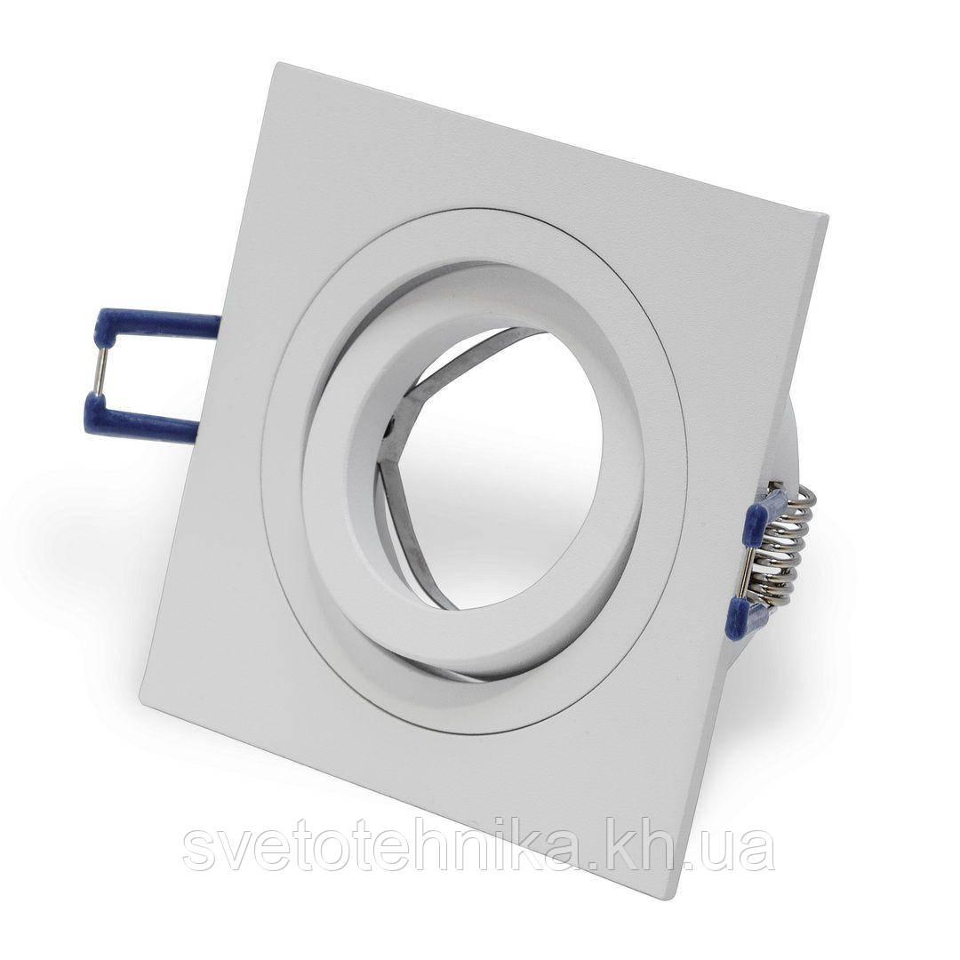 Алюминиевый светильник HI-TECH DDL17431 FERON DL6120 WHITE (поворотный встраиваемый) квадрат белый