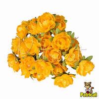 Гвоздика желтая Декоративный букетик 1.5 см диаметр 10 шт/уп