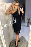 Вечернее черное платье на одно плечо, Новый Год 2021, будьте неотразимы! р.44-46 Код 245Т, фото 7
