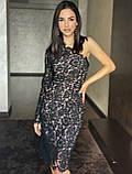 Вечернее черное платье на одно плечо, Новый Год 2021, будьте неотразимы! р.44-46 Код 245Т, фото 2