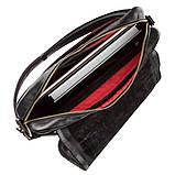 Мужская кожаная сумка через плечо SHVIGEL 19116 Черная, фото 4