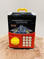 Копилка сейф, детский банкомат с кодовым замком BATMAN, фото 1