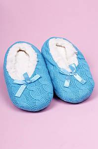Тапочки-чуни детские девочка голубые ABC 123816P