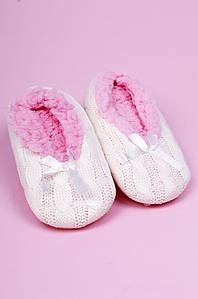 Тапочки-чуни детские девочка молочные ABC 123812P
