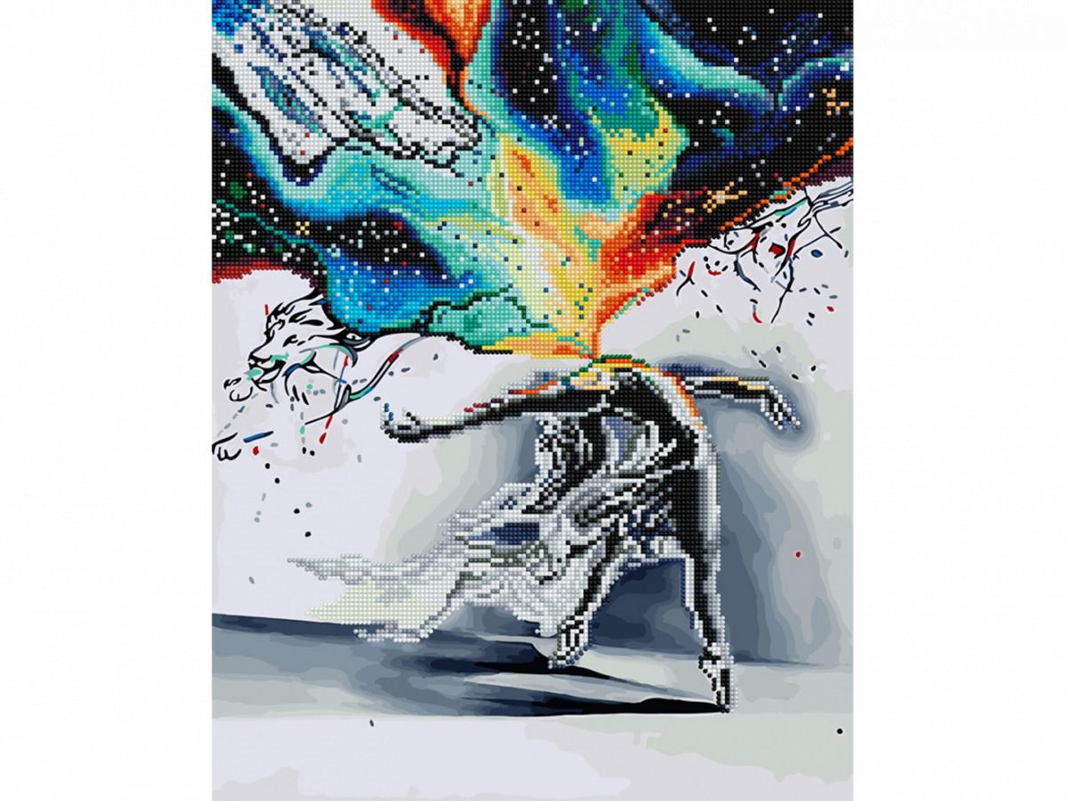 Алмазная картина-раскраска Абстракция Танец 40х50 см в коробке, BrushMe (GZS1008)