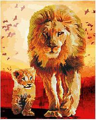 Алмазная картина-раскраска Львы Прогулка по саванне 40х50 см в коробке, BrushMe (GZS1013)