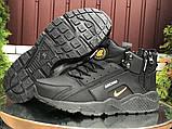 Зимние мужские кроссовки Nike Huarache (кожа нубук кроссовки в стиле Найк), фото 2