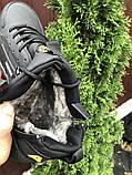 Зимние мужские кроссовки Nike Huarache (кожа нубук кроссовки в стиле Найк), фото 4