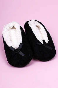 Тапочки-чуни детские девочка черные ABC 123804P