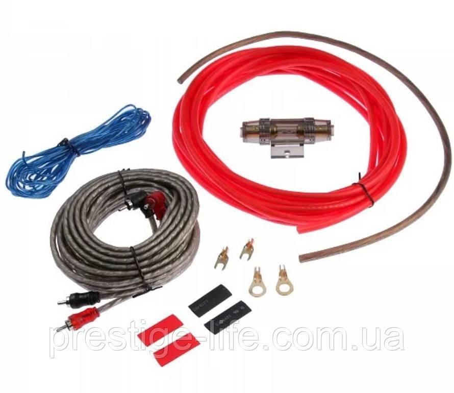 Набор проводов для установки сабвуфера MDK 6GA (5м) Набор кабелей для автоакустики