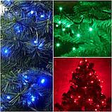 Гірлянда новорічна світлодіодна на ялинку нитка 7м \ 14м \ 18 \ 23м \ 27м, фото 4