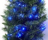 Гірлянда новорічна світлодіодна на ялинку нитка 7м \ 14м \ 18 \ 23м \ 27м, фото 2