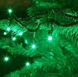 Гірлянда новорічна світлодіодна на ялинку нитка 7м \ 14м \ 18 \ 23м \ 27м, фото 3