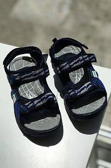 Босоножки детские мальчик черные с синим 118705M