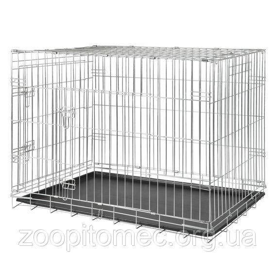 Транспортная клетка для собак TRIXIE (Трикси) металлическая с 2 дверьми, 64*54*48 см