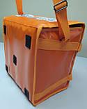 Термосумка для пиццы 32*32 на 5 - 6 коробок из ткани ПВХ. На липучках, фото 3