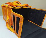 Термосумка для пиццы 32*32 на 5 - 6 коробок из ткани ПВХ. На липучках, фото 5