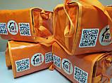 Термосумка для пиццы 32*32 на 5 - 6 коробок из ткани ПВХ. На липучках, фото 8