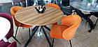 Стіл обідній круглий НЕ розкладний МДФ TM-46 Vetro Mebel ™, фото 4