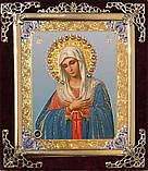 Ікона З оксамит 15х18 з прикрасою (емаль синя), фото 4