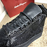 Balenciaga Arena Crocodile High Top Sneakers Black, фото 5