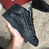 Balenciaga Arena Crocodile High Top Sneakers Black, фото 6