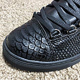 Balenciaga Arena Crocodile High Top Sneakers Black, фото 7
