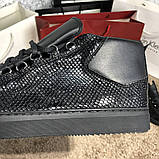 Balenciaga Arena Crocodile High Top Sneakers Black, фото 10