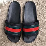 Gucci Web Slide Sandal Black Rubber, фото 2