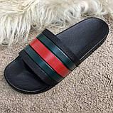 Gucci Web Slide Sandal Black Rubber, фото 3