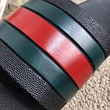 Gucci Web Slide Sandal Black Rubber, фото 4