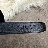 Gucci Web Slide Sandal Black Rubber, фото 5