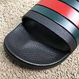 Gucci Web Slide Sandal Black Rubber, фото 8