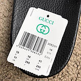 Gucci Web Slide Sandal Black Rubber, фото 10