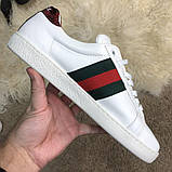 Gucci Snake Embroidered Sneaker White, фото 2