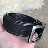 Belt Calvin Klein Coated Canvas Flat Black, фото 10