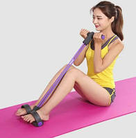 Эспандер для мышц ног, рук и груди Фиолетовый