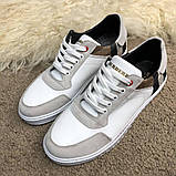 Burberry House Check Sneakers Optic White, фото 2
