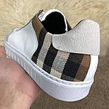 Burberry House Check Sneakers Optic White, фото 3