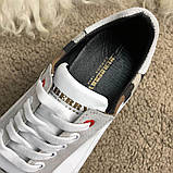 Burberry House Check Sneakers Optic White, фото 7