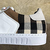 Burberry House Check Sneakers Optic White, фото 9