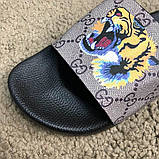 Gucci Slide Sandal GG Supreme Tiger, фото 7