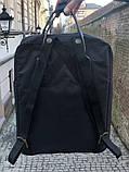Модный рюкзак сумка канкен женский, для девочки Fjallraven Kanken No.2 черный с черными ручками 16 л., фото 3