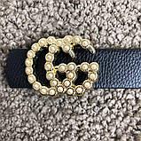 Gucci Belt Double G Pearl Black, фото 3