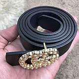 Gucci Belt Double G Pearl Black, фото 7