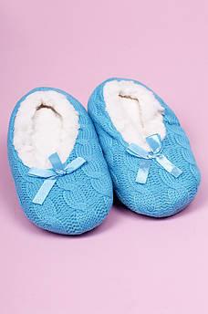 Тапочки-чуни детские девочка голубые ABC 123816M